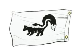 Almost Alive Humorous Skunk Flag Decal for Auto Home Car Tru