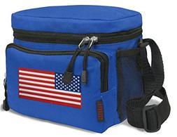 American Flag Lunch Bag Tote BEST USA Lunch Box Cooler WELL