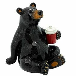 Pacific Giftware Animal World Black Bear with Cooler Drink R