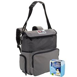 AO Coolers Canvas Series Backpack Soft Cooler with High-Dens