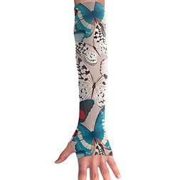 Unisex Arm Cooling Sleeves Butterfly UV Sun Protection Arm C