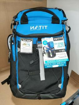 Titan cooler bag w/ ICE WALLS keeps 24 cans ice cold for 2 d