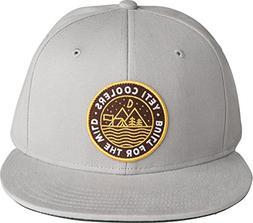 YETI Outdoor Badge High-Pro Flat Brim Hat, Gray