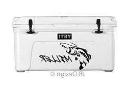 Bass Fish - Personalized Vinyl Decal for Yeti Coolers