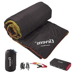 Lightweight Battery-operated Heated Down Camping Blanket Sle