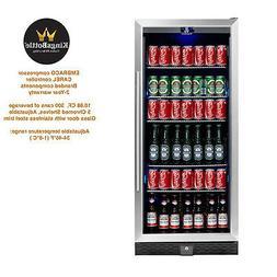 KingsBottle Beverage Cooler, Glass Door with Stainless Trim
