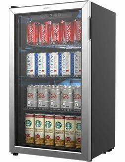Beverage Refrigerator and Cooler - 120 Can Mini Fridge with