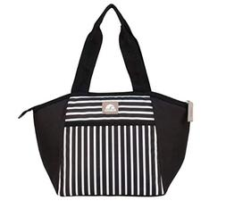 Igloo Black & white insulated Lunch bag, lunch box Essential