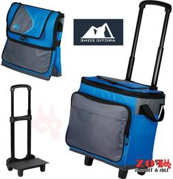 ARCTIC ZONE Blue 35 Can Rolling Cooler Ice Chest - CAMPING,