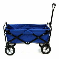 Blue Mac Sports Collapsible Folding Utility Wagon Garden Car