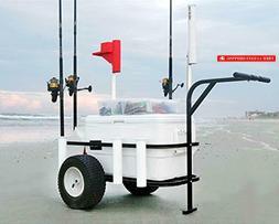 Sea Striker BRSC-DLX Beach Runner Deluxe Fishing Cart with P