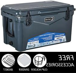 cascade industries coolers 45qt charcoal rugged series