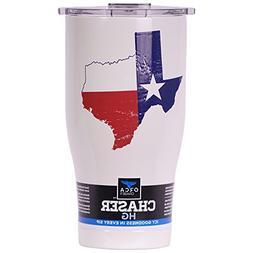 ORCA Chaser State Flag  Distressed Cooler, White, 27 oz