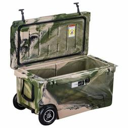 ChillMate 70 Cooler Box With Wheels Army Camo Icebox For Fis