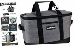 CleverMade Collapsible Cooler Bag: Insulated Leakproof 50 Ca