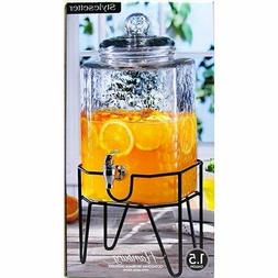 Cold Ice Tea Lemonade Beverage Drink Paty Glass Dispenser on