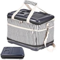 Collapsible Folding Insulated Cooler   Picnic Tote   30 Can