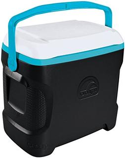 Igloo Contour Cooler Can , Black/White/Turquoise, 30 quart/2