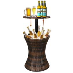 Cool Bar Rattan Wicker Ice Cooler Drink Deck Outdoor Patio B
