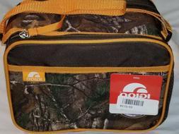 Cooler Igloo Lunch Bag Realtree Camo Hunters Orange Quick Zi