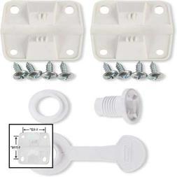 Cooler Plastic Hinge Set & Standard Drain Plug Assembly Comb
