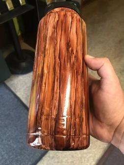 cooler rambler bottle 36oz powder coated wood