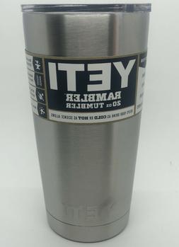 YETI Coolers RAMBLER 20 oz TUMBLER Stainless Steel w/ Lid YR
