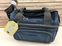 crew cooler jr blue lunch bag tote