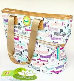 Lily Bloom Dachshund Dogs Insulated Lunch Tote Bag Cooler +