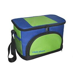 PANDA SUPERSTORE Deluxe 6 Can Insulated Soft Cooler Bag, Blu
