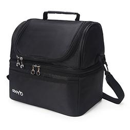 Yodo Deluxe Large Lunch Bag Double Layer Cooler Tote Bag for