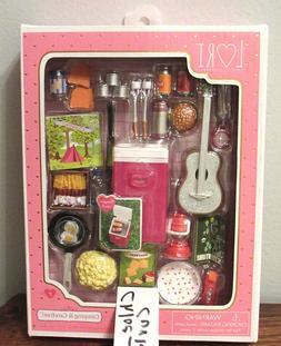 Lori Doll Camping & Carefree food Cooler Guitar Glamper RV A