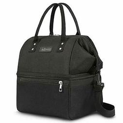 UTOTEBAG Double Deck Lunch Bag Insulated Lunch Box Large Coo