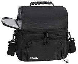 MIER Dual Compartment Cooler Bag Tote Adult Insulated Lunch