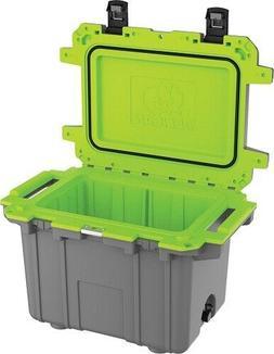 Pelican Elite 30Q1DKGRYEGR Cooler, 30 Qt, Dark Grey/Green MA