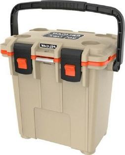 Pelican Elite Cooler, 20 Qt, Tan/Orange 20Q2TANORG