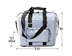 """Fish Bag / Cooler Magn Cool """"New"""" 48 Can Gray Vinyl Large So"""