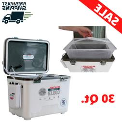 Fishing Cooler Box 30 Qt. Insulated Dry Ice With Pull net La