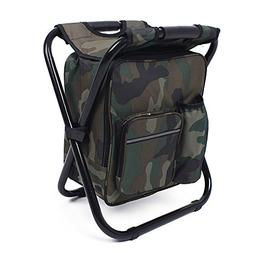 We Moment Folding Portable seat Backpack Fishing Cooler Beac