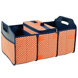 Original Folding Trunk Organizer with Cooler in Orange and N