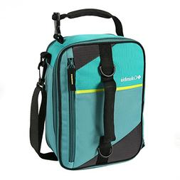 Columbia Grid Line Expandable Lunch Pack, Teal