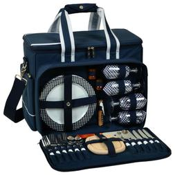 Hamptons Deluxe Picnic Cooler for 4