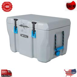 HEAVY DUTY 55 QUART COOLER HUNTING CAMPING INSULATED CHEST B