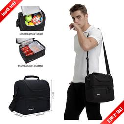 Heavy Duty Large Lunch Box Insulated Double Decker Cooler To