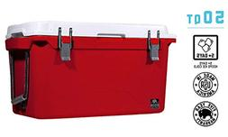 BISON COOLERS 50 Quart. Heavy Duty High-Performance Ice Ches