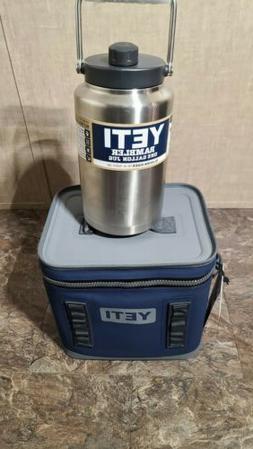 YETI Hopper Flip 12 Portable Cooler Navy & YETI RUMBLER 1 GA