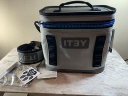 YETI Hopper Flip 8 Cooler Leakproof Fog Gray/Tahoe Blue Bran