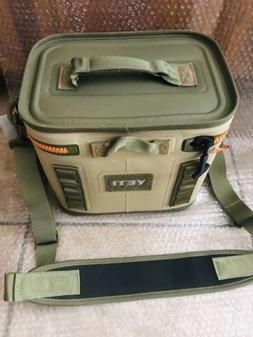 YETI Hopper Flip 8 Portable Cooler, Field Tan/Blaze Orange B
