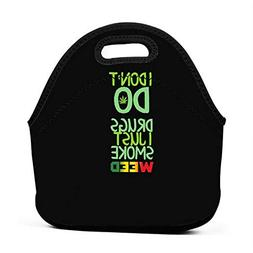 Janeither I Just Smoke Weed Portable Reusable Lunch Bag Wate