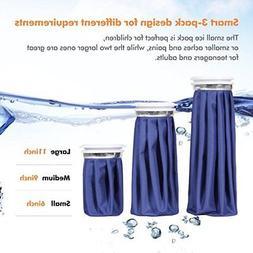 Ice Bag 3PK Sport Reusable Packs Pack Bag Cool Coolers Slim